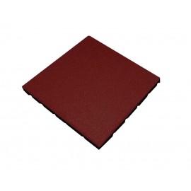 Gumová dlaždice - červená 500 x 500 x 25